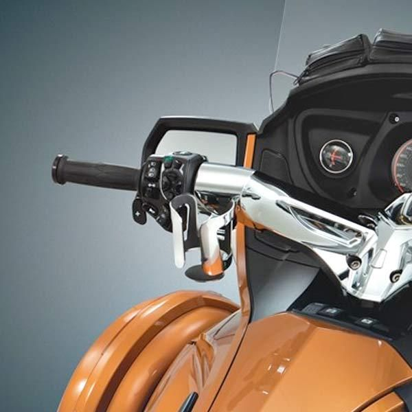 show chrome cup holder can am spyder rt cup holder on. Black Bedroom Furniture Sets. Home Design Ideas