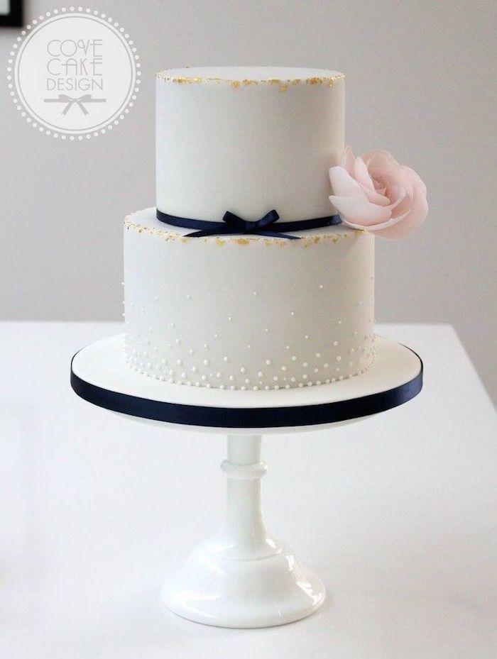 Wedding Cakes with Adorable Details - via Cove Cake Design
