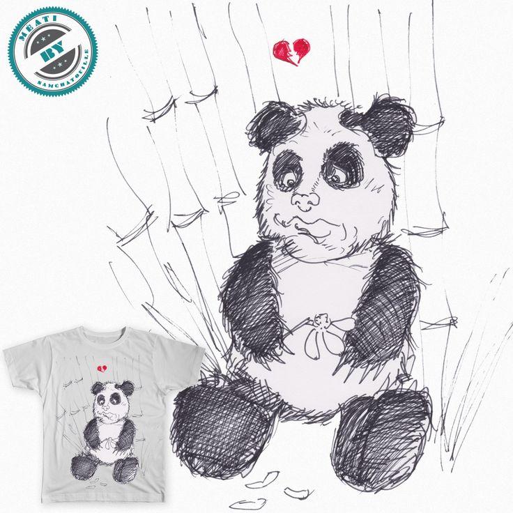 j'ai réaliser ce petit Panda au cœur brisé, parce que tout simplement, l'idée m'est traverser l'esprit en voyant un reportage dernièrement !