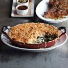 Craftsteak Spinach Gratin. In a riff on a traditional steakhouse side, Chef Tom Colicchio of Craftsteak restaurants transforms classic creamed spinach into an over-the-top gratin. It's the perfect accompaniment to our Bone-in Ribeye Steaks.