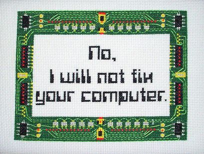 geek computer cross stitch