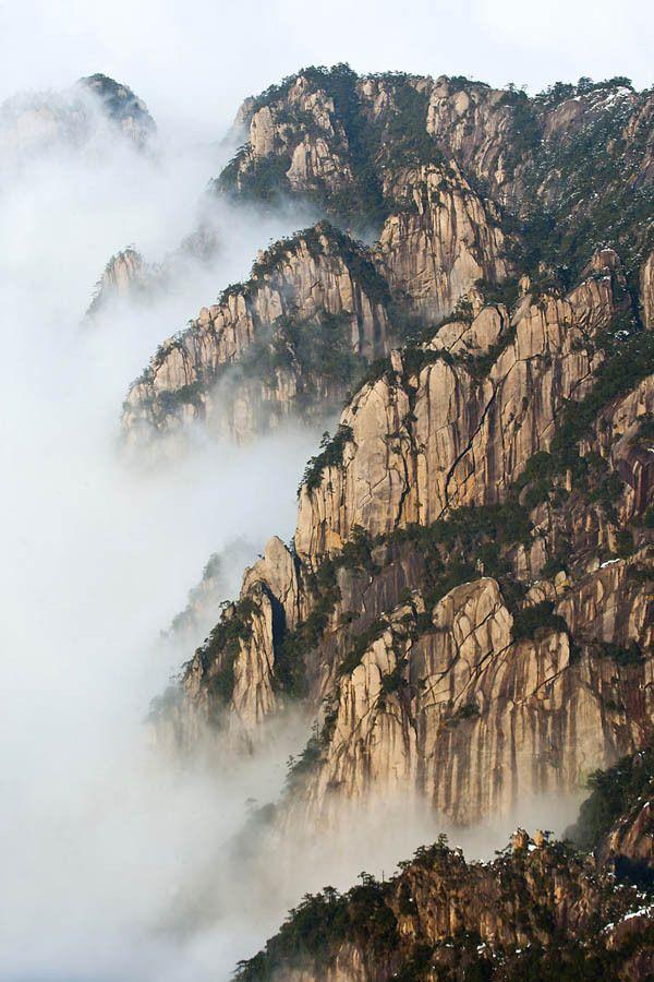 Huangshan (Yellow Mountain), China. Most beautiful mountains I've seen, aside from good ole' Utah mountains in my backyard.