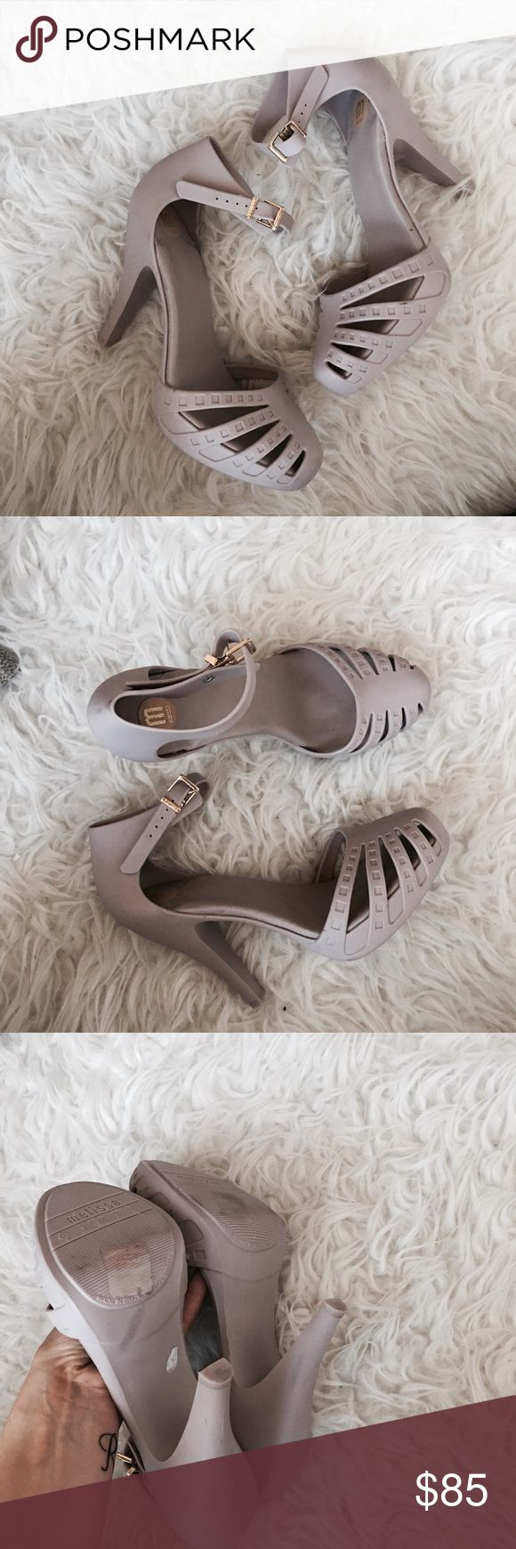 """Melissa Jelly Heels Super pretty jelly heels with 1"""" platform,4"""" heel. Only tried on indoors . New without box. Please submit all offers privately . No trades. Melissa Shoes Heels"""