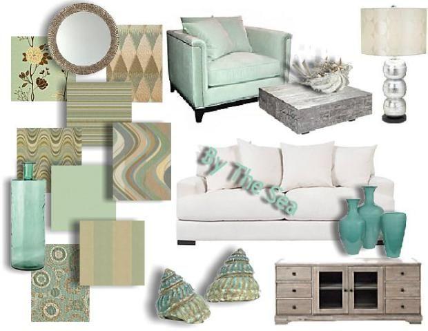 Aqua And Teal Interior Design Mood Board Home Decor Pinterest