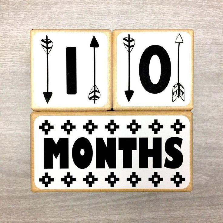 Monochrome | Baby Milestone Blocks