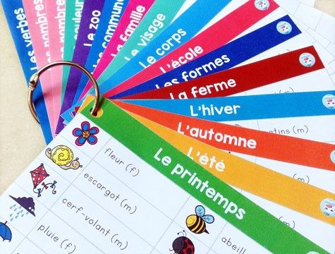 French mini word wall - FREE for newsletter subscribers
