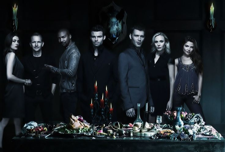 Sebastian Roché, Daniel Gillies, Joseph Morgan, Leah Pipes, Phoebe Tonkin, Charles Michael Davis, and Danielle Campbell in The Originals (2013)
