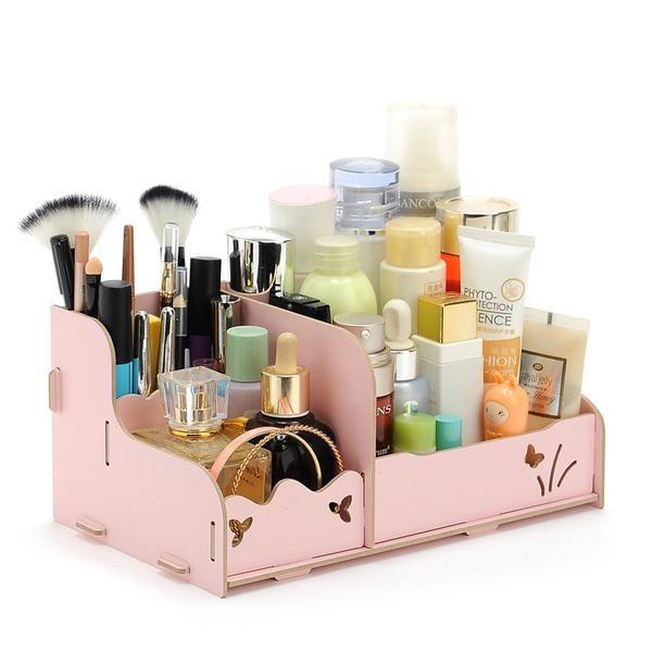 makeup organizer wood. diy wood cosmetic organizer folding wooden makeup