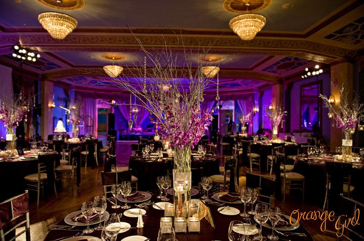 Reception in the Cascade Ballroom * Banff Wedding Photographer - Orange Girl  Mountainscape Productions & Events worked with Rocky Mountain Weddings on this stunning December wedding at the Fairmont Banff Springs Hotel!