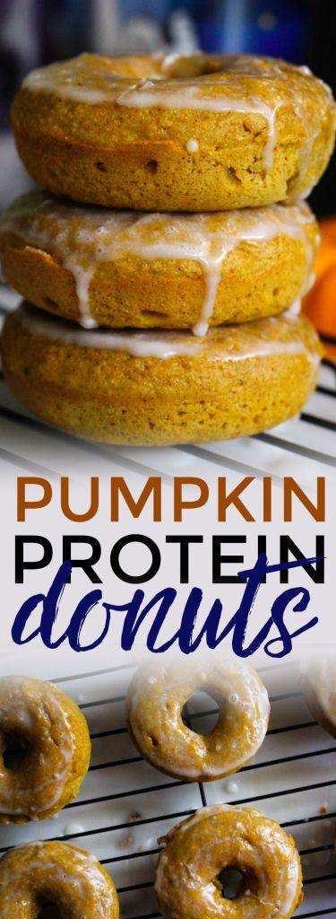 Glazed Pumpkin Protein Donuts