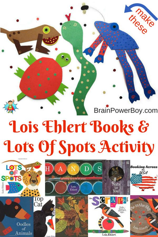 "Book list and an activity based on Lois Ehlert's ""Lots of Spots."" Wonderfully creative art activity. Make your own spotted animal with this Lots of Spots craft."