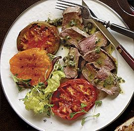 ... Denver Steak and Tomatoes with Caper-Mustard Vinaigrette | Re