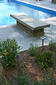 Natural stone diving board