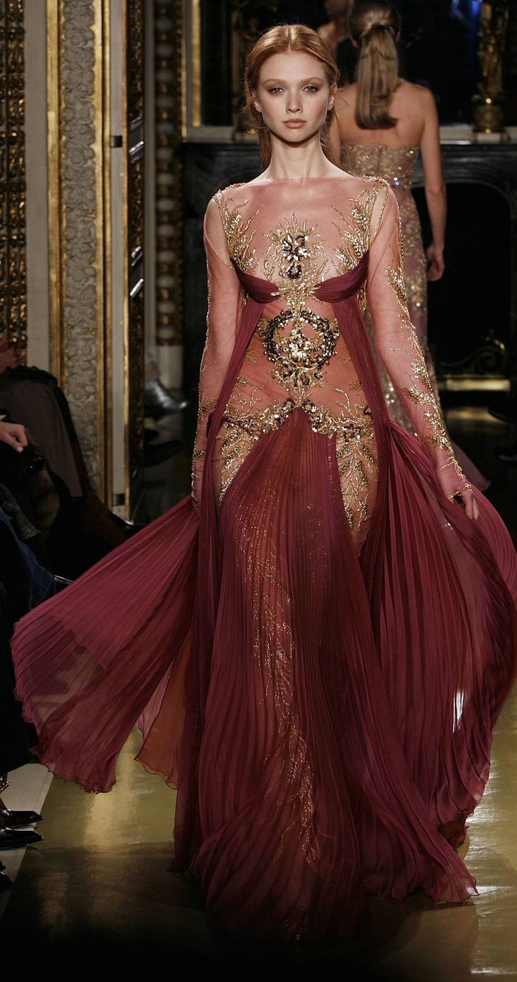 Zuhair murad haute egyptian queen gown egypti n for The history of haute couture