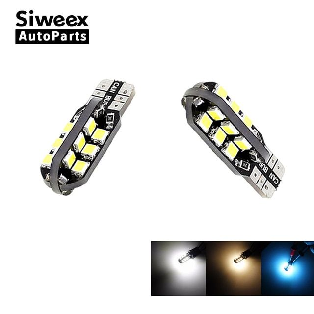 2 Pcs W5w T10 Car Led Bulbs 24 Smd Side Wedge Dome Light Reading Turn Signal Lamp 194 168 2835 White Warm White Iceblue 12v Revi Reading Light Led Bulb Car Led