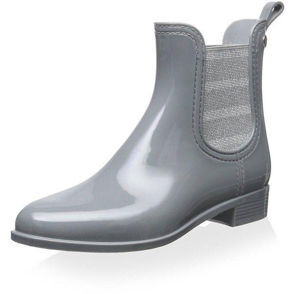 Gioseppo Women's Short Rain Boot, Grey, 37 M EU/7 M US featuring polyvore women's fashion shoes boots short grey boots wellington boots gray boots gray rain boots short boots