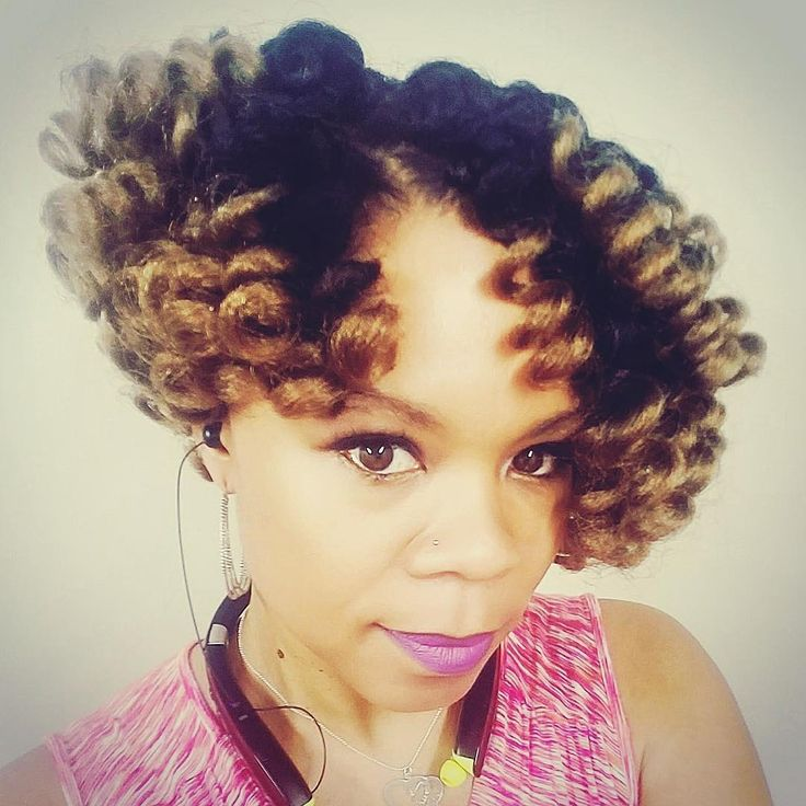 Our Facebook Curlfriend Tasonya in her A-symmetrical cut Kenzie Curls! 💕