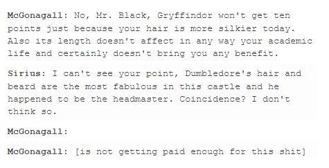Sirius and McGonagall