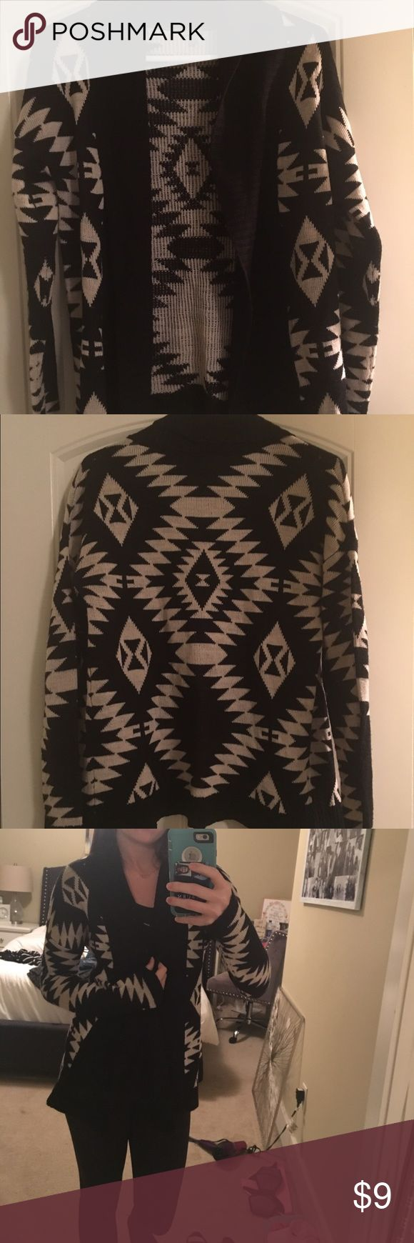 Black tribal print cardigan! Black tribal print cardigan Other