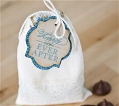 Thank your guests on your special day with this hand stamped favor!