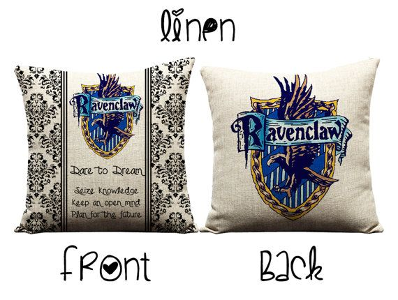 harry potter ravenclaw house hogwarts crest j rowling book movie memorabilia new sofa throw pillow case cushion cover set