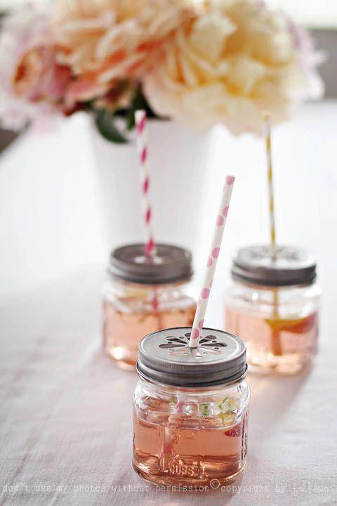 repurpose jars into a cute summer drinking glass - Mason Jar Drinking Glasses