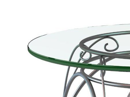 """44"""" Inch Round Glass Table Top 1/4"""" Inch Thick, Flat Polished Edge, Tempered Fab Glass and Mirror http://smile.amazon.com/dp/B00G1WSV3E/ref=cm_sw_r_pi_dp_GMSlvb0Q15A7G"""