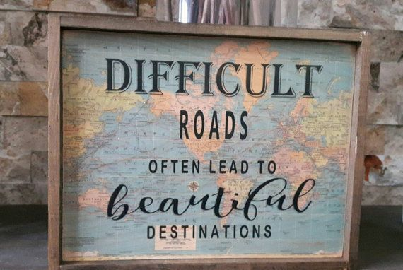 Travel decor/The World awaits wood sign/Map Decor/wooden quote