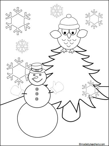 The 42 best images about Coloring Pages on Pinterest Colouring - new snow coloring pages preschool