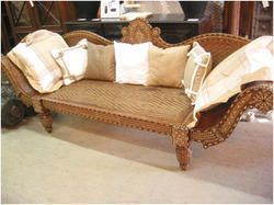 Antique+Vintage+Teak+Bone+Inlay+Sofa