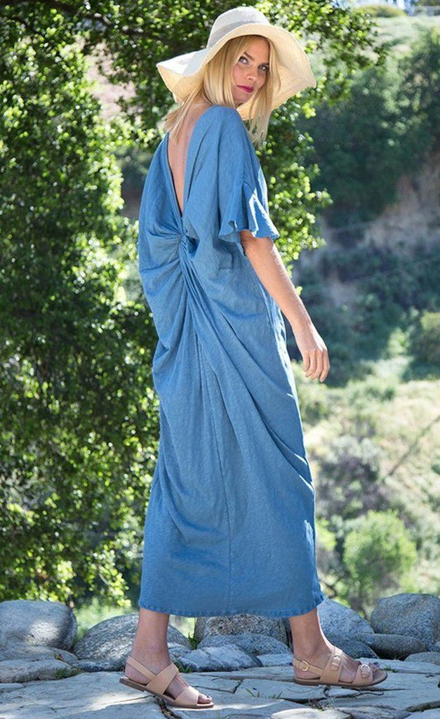 Sarasota Vintage Blue Maxi Dress - Find the perfect dress for any occasion at ShopLuckyDuck.com