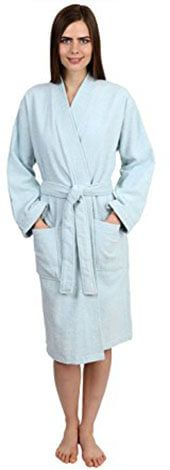 TowelSelections Women's Cotton Terry Kimono Bathrobe