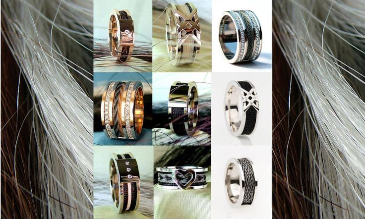 Horsehair ring Custom made rings with your own horse´s hair  http://nannasalmi.com/collections/rings/