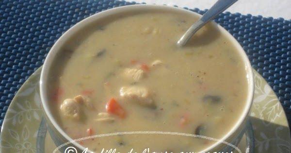 J'ai craqué pour cette recette de Ricardo ! Je raffole de ce genre de soupe toute crémeuse. J'avais tout ce qu'il me fallait pour la cui...