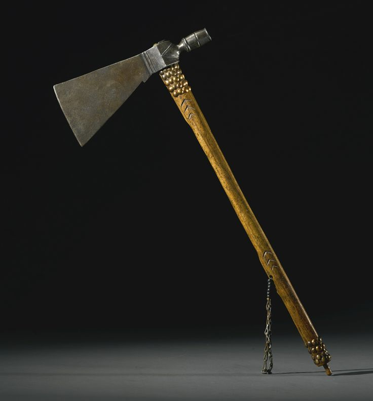 Sioux wood and metal pipe tomahawk