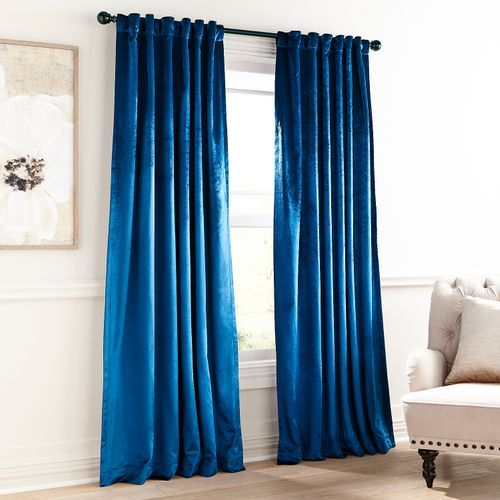 Shiny Velvet Midnight Blue 108″ Curtain