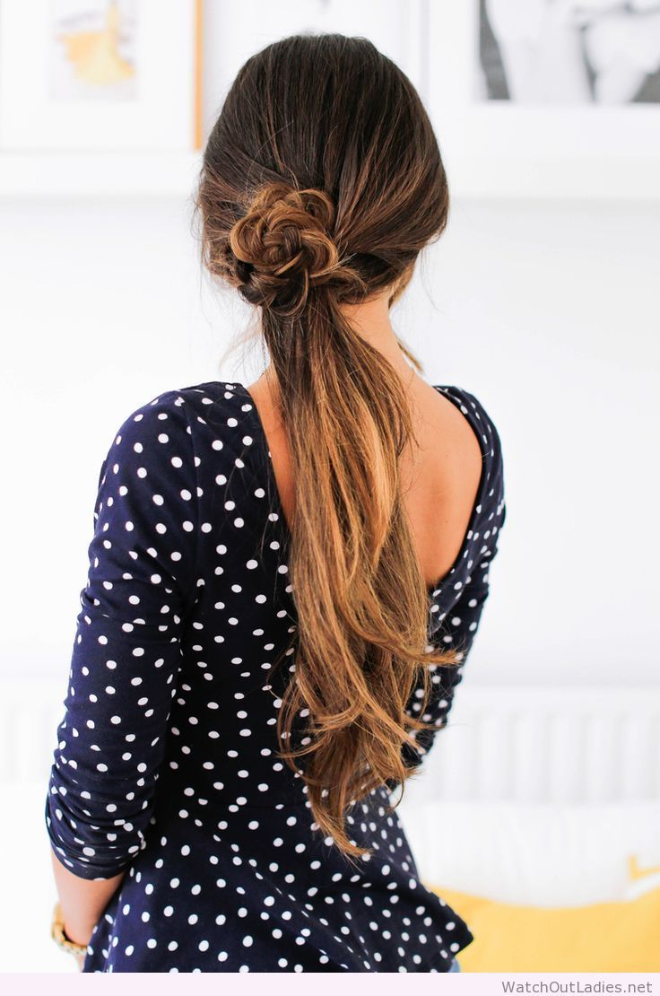 Super cute & easy Summer ponytail