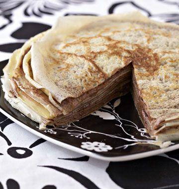 Gâteau de crêpes à la mousse au chocolat - Recettes de cuisine Ôdélices / crepe cake with chocolate