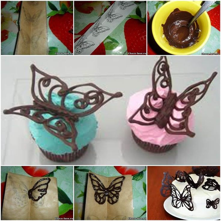 How to DIY Chocolate Butterfly Decoration