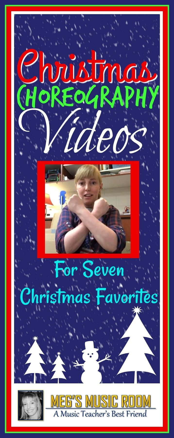 Christmas Choreography for Elementary Music Class - 7 Christmas Songs - Jingle Bells, Silent Night, Up on the Housetop, All I Want for Christmas Is My Two Front Teeth, Rudolph, the Red-Nosed Reindeer, Feliz Navidad, We Wish You a Merry Christmas. Easy dance moves that are perfect for caroling, stage performances, and classroom fun. #christmas #christmasmusic #music #elementarymusic #musicteacher