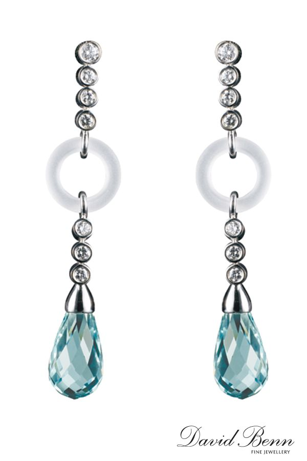 Aquamarine Briollette Earrings