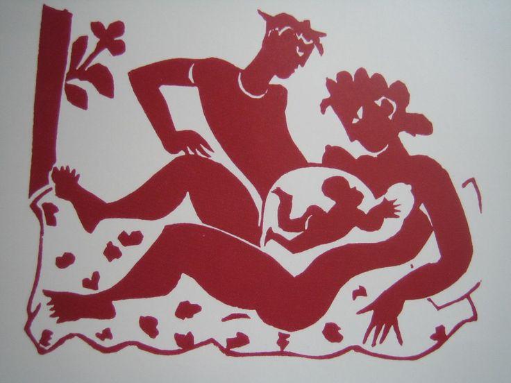 Eddy Varekamp birth announcement via art-and-pregnancy.com