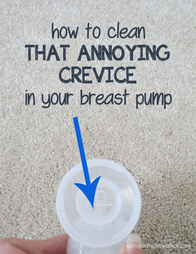 Pinner: Seriously - It took me over a year to figure out the secret to clean that annoying crevice in my breast pump. You'll never guess the magic tool!