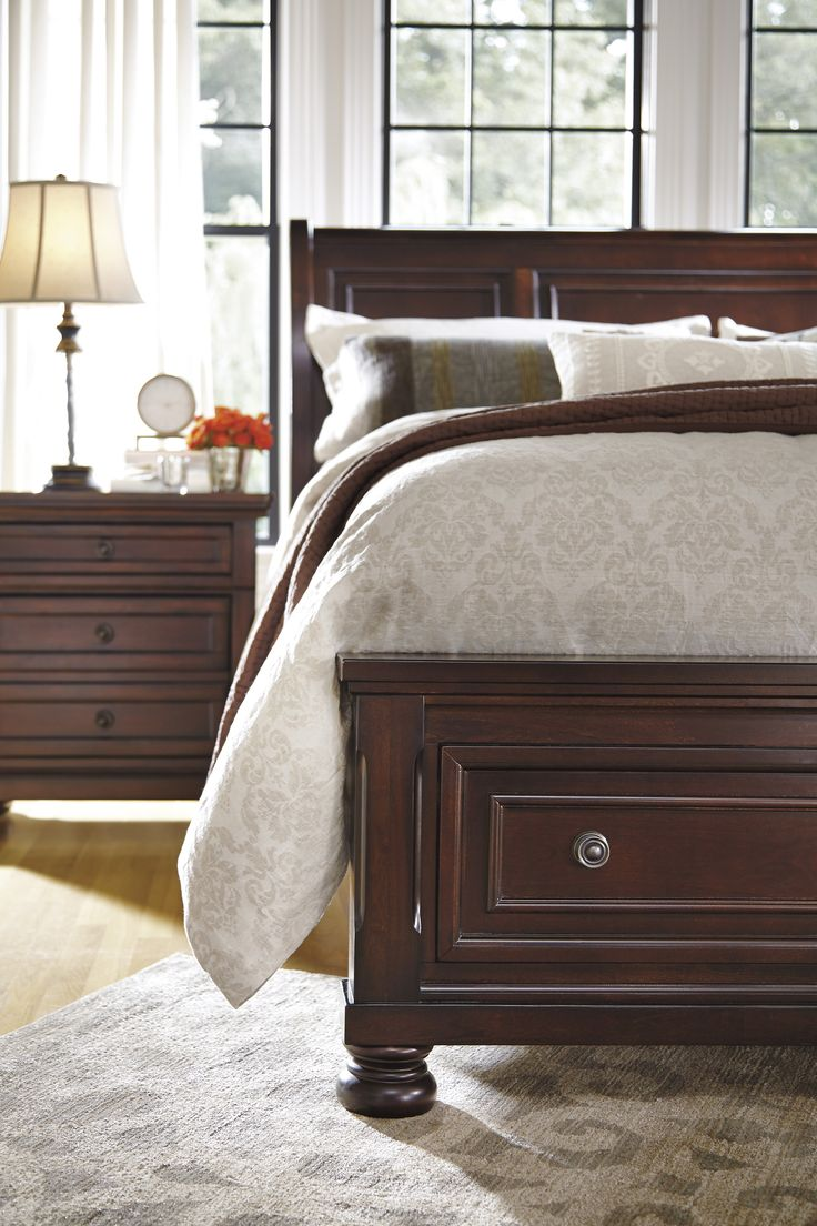 Ashley rustic bedroom furniture - More Gorgeous Marsala Undertones Wouldn T The Porter Bed Look Stunning With Wine