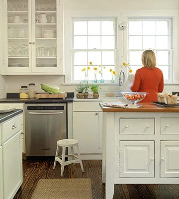 Bright White Kitchen: Style, Window, Cottage, Bright White, House, Kitchen Ideas, White Kitchens