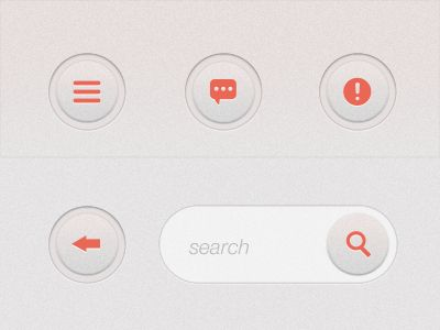 clean, simple, round buttons