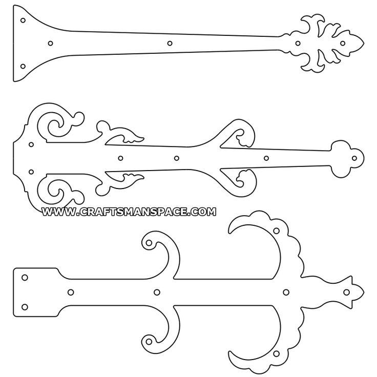 Door hinge plate patterns 4 shop ideas pinterest for Fairy door pattern