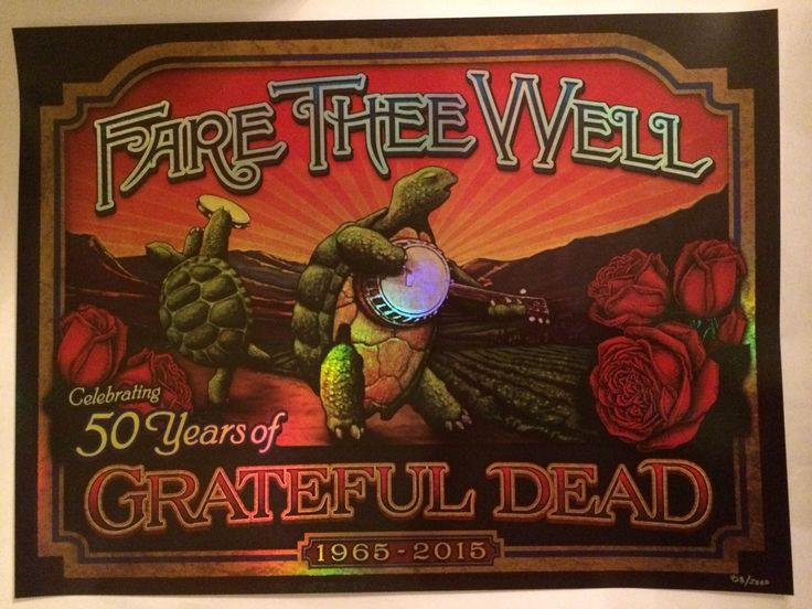 Brian Carroll Grateful Dead Fare Thee Well Terrapin Poster Numbered 438 5000 | eBay