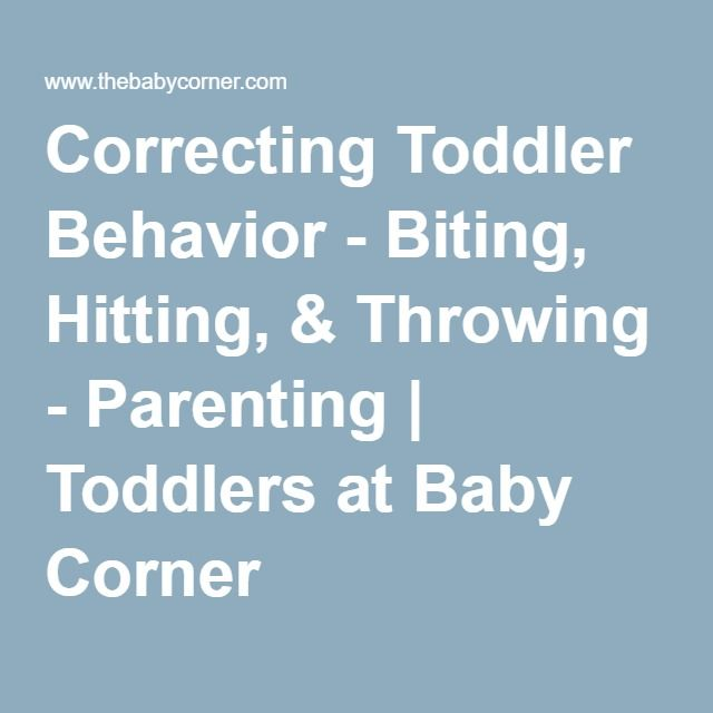 Correcting Toddler Behavior - Biting, Hitting, & Throwing - Parenting | Toddlers at Baby Corner