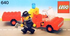 View LEGO instructions for Fire Truck and trailer set number 640 to help you build these LEGO sets